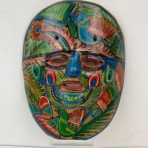 Mexican Folk Art Terracotta Mask Bird Of A Feather